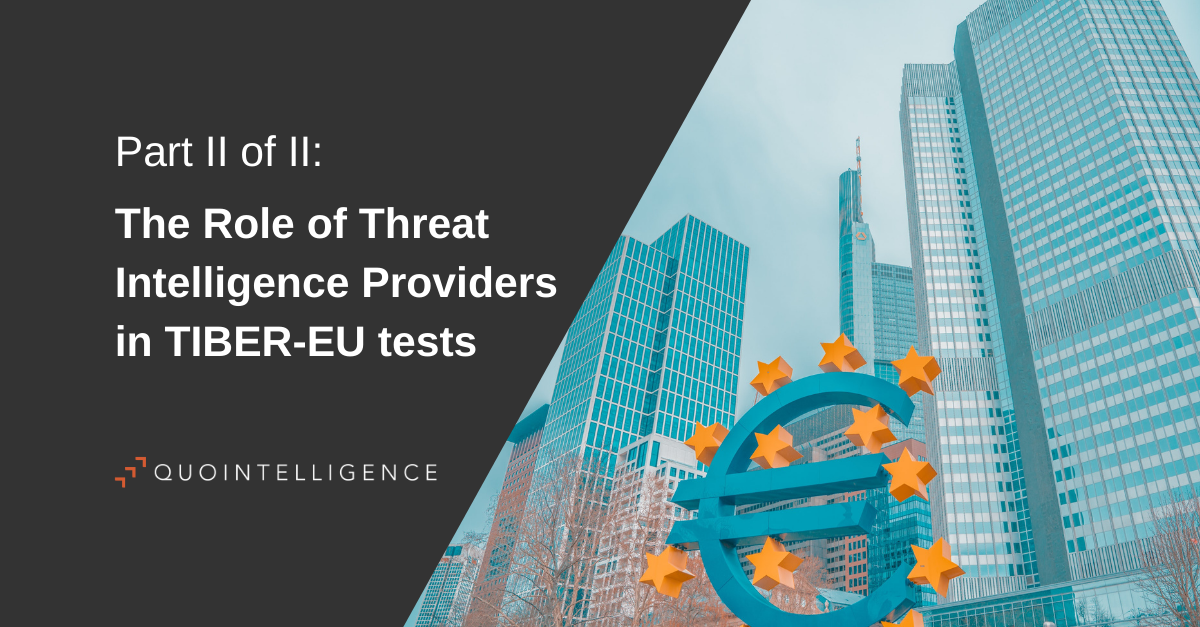 The Role of Threat Intelligence Providers in TIBER-EU tests