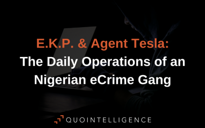 E.K.P. & Agent Tesla: The Daily Operations of a Nigerian eCrime Gang