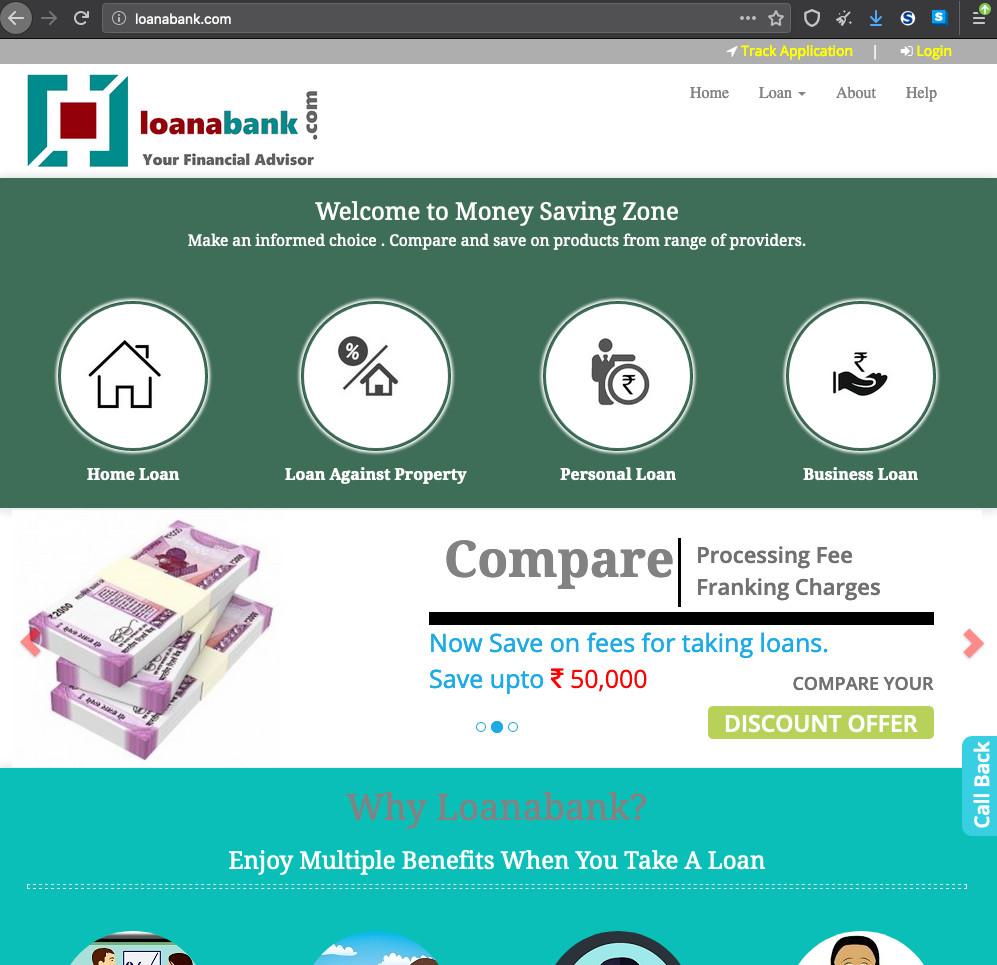 Homepage of Ioanabank[.]com - a fake bank domain E.K.P. is using